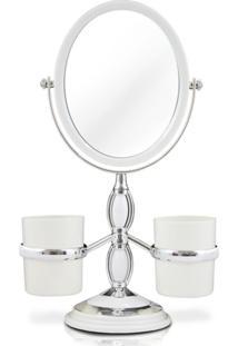 Espelho De Bancada Com Suportes Laterais Jacki Design Espelho Branco - Kanui