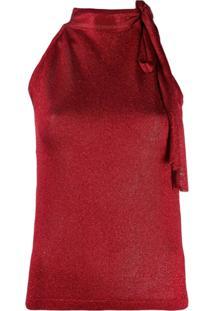 Missoni Blusa Com Laço Na Gola - Vermelho