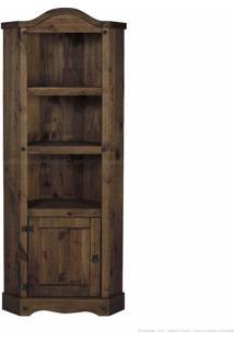 Estante Livreiro 1 Porta Em Madeira Maciça Rusay Imbuia - Urbe Móveis