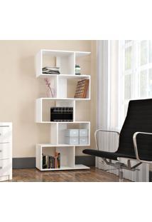 Armário Para Livros Com 5 Nichos Bliv - Branco - Multistock