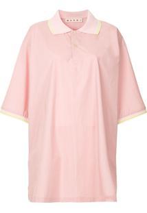 Marni Camisa Polo Oversized - Rosa