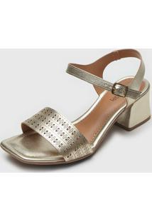 Sandália Mississipi Metalizada Dourada