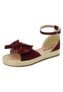 Sandália Romântica Calçados Flatform Fashion Marsala