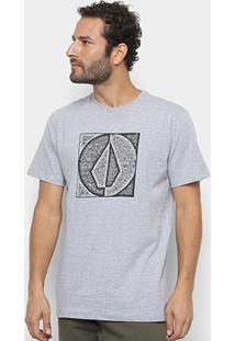 Camiseta Volcom Silk Stamp Divide Masculina - Masculino