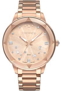 Relógio Technos Feminino Crystal Analógico Rosé 2039Cg4J - Kanui
