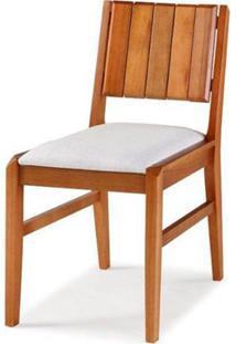 Cadeira Salvador Estofada Verniz Jatoba Eucalipto - 40726 - Sun House