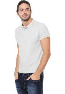 Camisa Polo Timberland Slim Tbl 4 Stripes Cinza