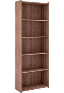 Estante Para Livros Biblioteca M Esm 201 Rústico - Móvel Bento