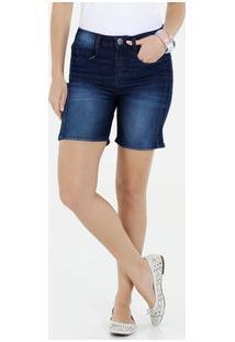 Bermuda Feminina Jeans Casual Marisa