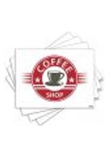 Jogo Americano - Café Com 4 Peças - 1165Jo