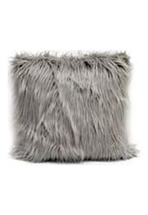 Capa De Almofada Em Pele Sintetica Alasca Artex - Quadrado - Cinza