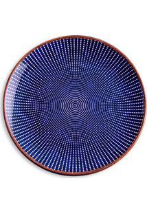 Prato De Sobremesa Em Cerâmica Target 21Cm Azul