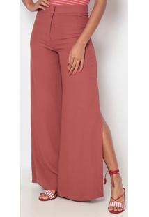 Calça Pantalona Com Fendas - Rosêeva