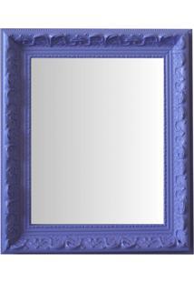Espelho Moldura Rococó Raso 16404 Lilás Art Shop