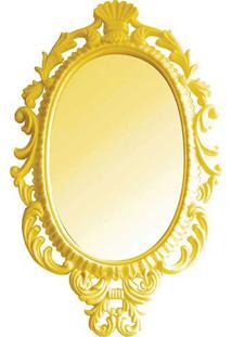 Espelho Oval Giant Princess- Espelhado & Amarelo- 73Btc Decor