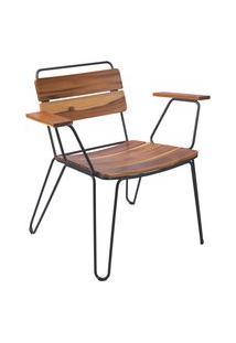 Cadeira De Madeira Tramontina 14522051 Tarsila Teca Com Braços Marrom