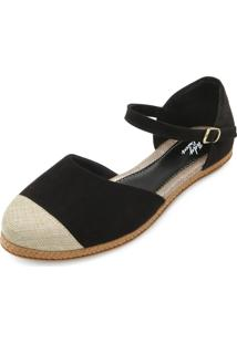 Sapatilha Espadrille Lady Queen Rv18-5259 Preto