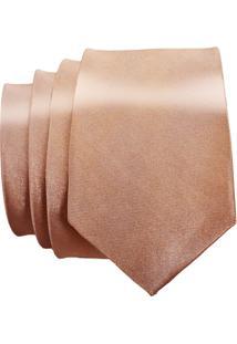 Gravata Unyforme Slim - Masculino-Dourado