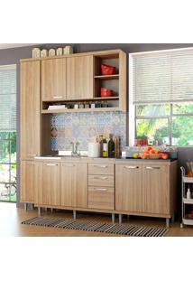 Cozinha Compacta Sem Tampo 4 Peças Sicília 5812-S7 - Multimóveis - Argila Acetinado