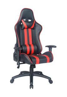 Cadeira Gamer B Giratória Com Travamento De Inclinação Preta E Vermelha - Mw