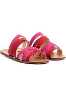 Rasteira Couro Shoestock Multi Tiras