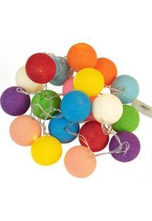 Luminária Bolinhas Coloridas