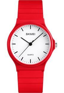 Relógio Skmei Analógico 1419 Vermelho