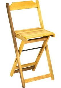 Cadeira Bistrô Dobrável Em Madeira Itaúba Marcenaria Real Sem Pintura