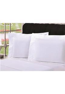 Fronha Para Travesseiro Plumasul Percal Com Abas 200 Fios 50 X 150 Cm – Branca
