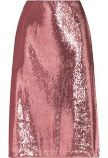 Hvn Wiona Sequin-Embellished Skirt - Rosa