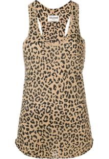 Zadig&Voltaire Blusa Nora Animal Print - Marrom