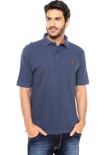 Camisa Polo Mr Kitsch Basic Azul-Marinho