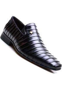 Sapato Social Calvest Napoleoni Preto Masculino - Masculino-Preto