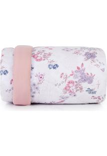 Edredom King Altenburg Home Collection 180 Fios Red Velvet - Rosa Rosa