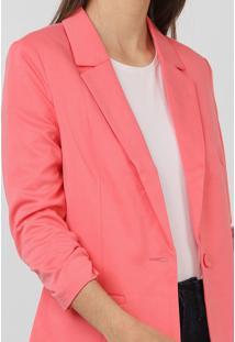 Blazer Vero Moda Liso Rosa