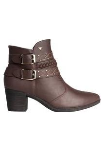Bota Feminina Ankle Boot Mississipi Murgon Marrom