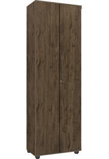 Armário Multiuso 2 Portas E 5 Prateleiras Cordoba-Móveis Primus - Amêndoa Wood