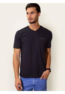 Camiseta V Slim Fit Preta
