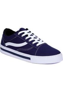 661f0424dc Lojas Pompéia. Calçado Tênis Moderno Masculino Azul Marinho Casual