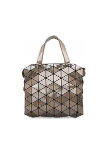 Bolsa Ysh Triangle Texture - Dourada
