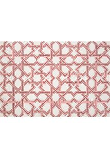 Dhurie Moroccan 3 White/Red