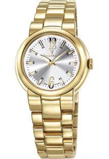 Relógio Analógico Jv04210- Dourado & Prateado- Jean Jean Vernier