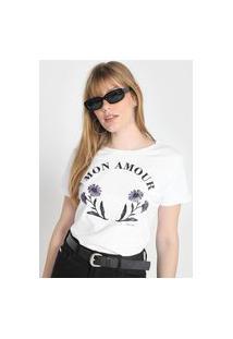Camiseta Polo Wear Mon Amour Branca