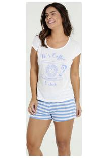 Pijama Feminino Short Doll Estampa Frontal Marisa