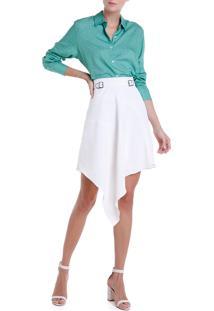 Camisa Dudalina Feminina Folhagem (Estampado Folhagem Verde, 38)