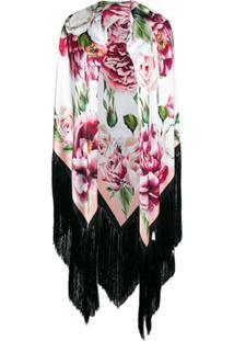 Dolce   Gabbana Echarpe Oversized Com Estampa Floral De Seda - Roxo 6c27e692e8f