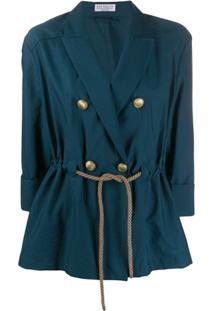 Brunello Cucinelli Double Breasted Blazer - Azul