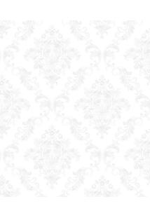 Papel De Parede Lyam Decor Damask Branco
