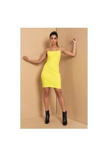Vestido Decote Quadrado Lemon Vestido Decote Quadrado Lemon (G)