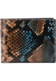 Etro Carteira Com Textura De Cobra - Marrom